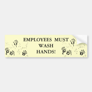 Wash Hands Bathroom Sticker Car Bumper Sticker