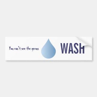 WASH hands blue rain drop clean water sticker