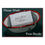 WASH HANDS: IVORY SOAP ART: PRINT