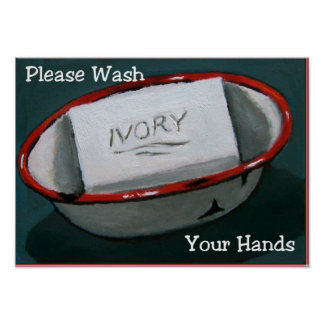 WASH HANDS: IVORY SOAP ART: PRINT