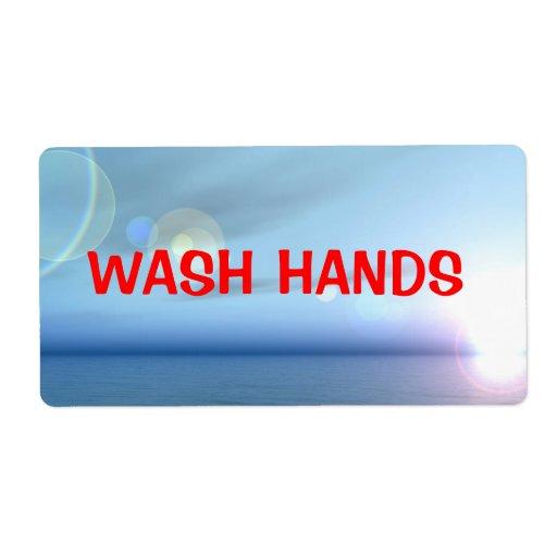 Wash Hands label