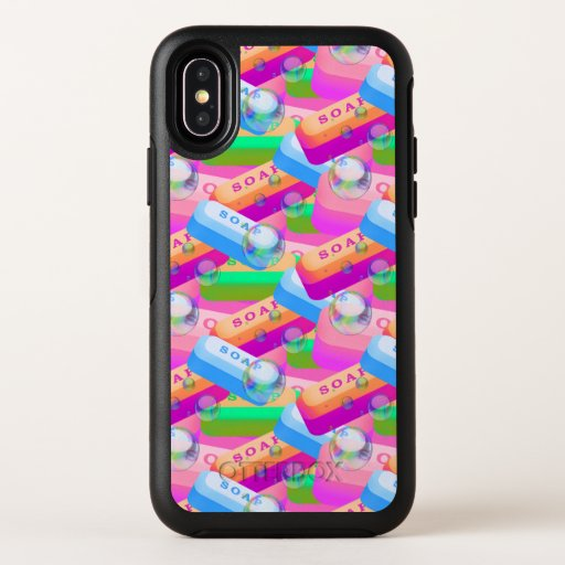 Wash Hands Soap Colorful OtterBox iPhone X Case
