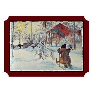 Wash House in the Snow Personalized Announcement