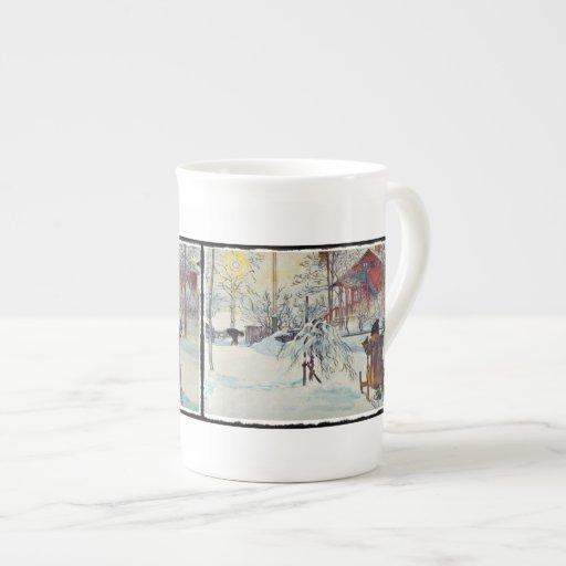 Wash House in the Snow Bone China Mug