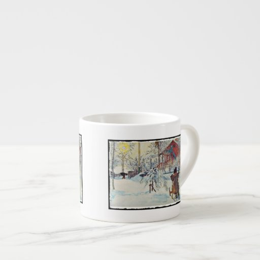 Wash House in the Snow Espresso Mugs