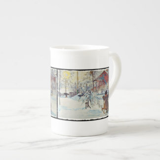 Wash House in the Snow Tea Cup