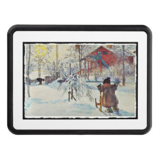 Wash House in the Snow Trailer Hitch Cover