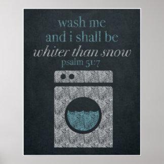 Wash Me Chalkboard Art 16x20 Poster