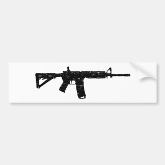 Wash Worn AR15 Bumper Sticker