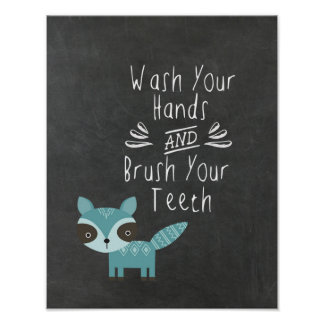 Wash Your Hand and Brush Your Teeth Poster