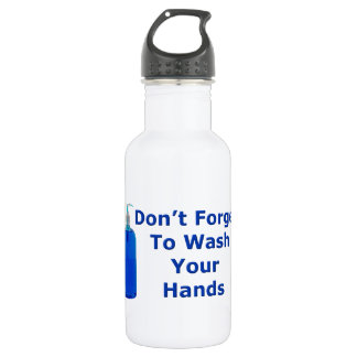 Wash Your Hands 18oz Water Bottle