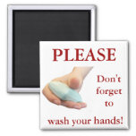 Wash Your Hands! 2 Inch Square Magnet