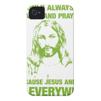 Wash Your Hands And Pray - Jesus And Germs... iPhone 4 Case