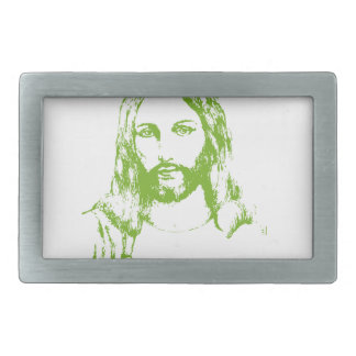 Wash Your Hands And Pray - Jesus And Germs... Rectangular Belt Buckle