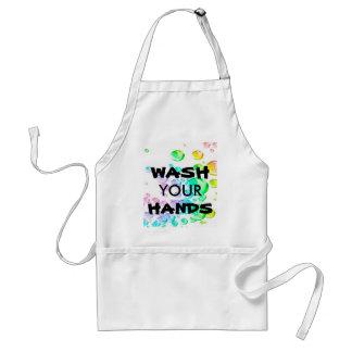 WASH YOUR HANDS apron