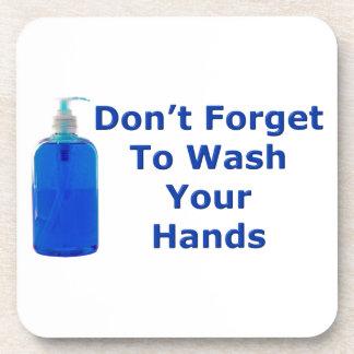 Wash Your Hands Beverage Coaster
