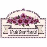 """Wash Your Hands!"" - Decorative Sign - 41 Photo Sculpture Ornament"