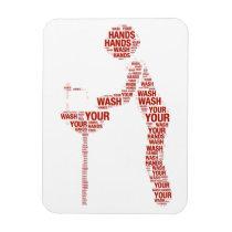 wash, hands, magnet, health, virus, schools, restaurants, hospitals, birthday, party, [[missing key: type_fuji_fleximagne]] com design gráfico personalizado