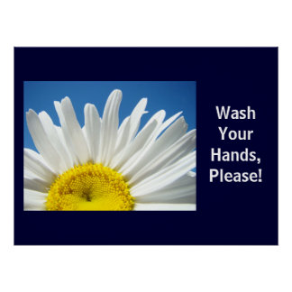Wash Your Hands Please! Health School poster