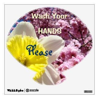 Wash Your HANDS Please wall decals Blossoms