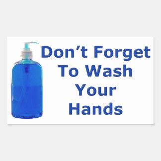 Wash Your Hands Rectangular Sticker