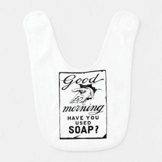 wash your hands- retro hygiene ad baby bib