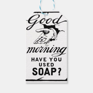 wash your hands- retro hygiene ad gift tags