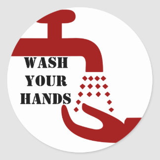 Wash Your Hands Stickers