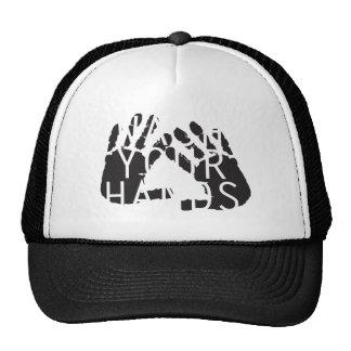 WASH YOUR HANDS TRUCKER HAT