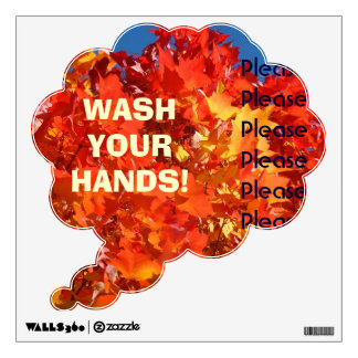 WASH YOUR HANDS! wall Decal Bright Colorful
