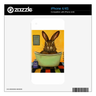 Wash Your Hare iPhone 4 Skin