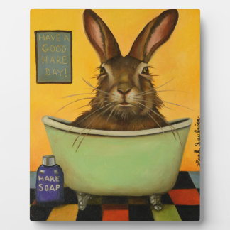 Wash Your Hare Plaque