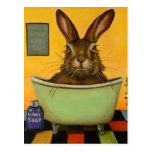 Wash Your Hare Postcard