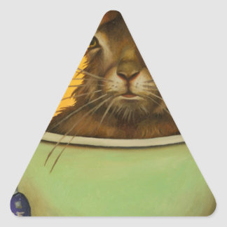 Wash Your Hare Triangle Sticker