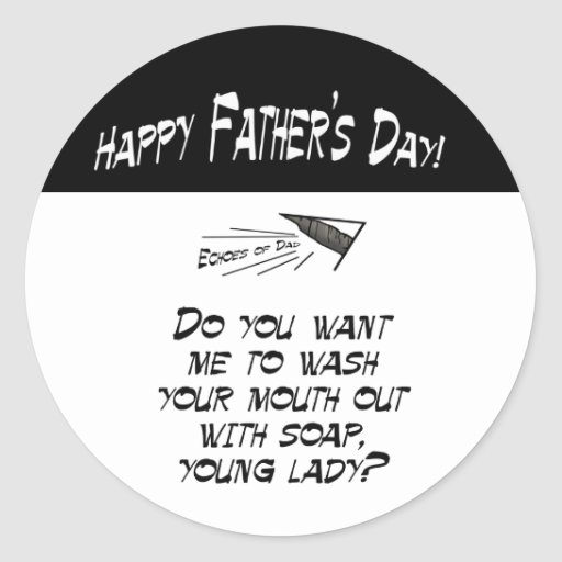 Wash your mouth out with soap classic round sticker