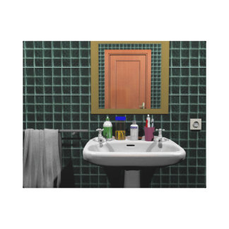 Washbasin In Bathroom Canvas Print