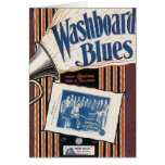 Washboard Blues Vintage Song sheet Cover Card