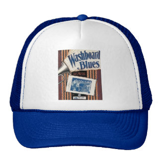 Washboard Blues Vintage Song sheet Cover Mesh Hats