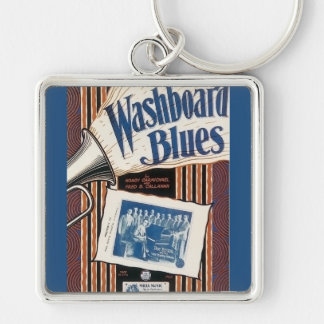 Washboard Blues Vintage Song sheet Cover Keychain