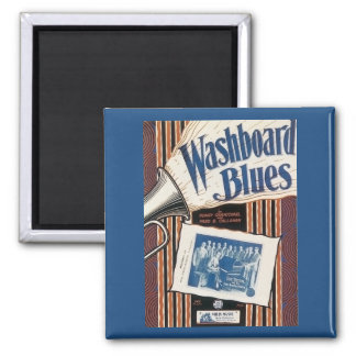 Washboard Blues Vintage Song sheet Cover 2 Inch Square Magnet