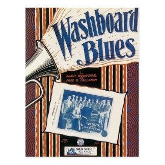 Washboard Blues Vintage Song sheet Cover Postcard