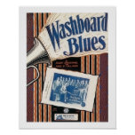 Washboard Blues Vintage Song sheet Cover Poster
