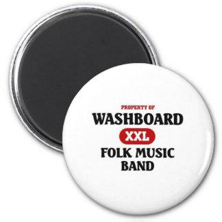 Washboard Folk Music Band 2 Inch Round Magnet