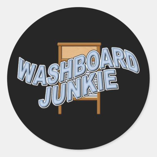 Washboard Junkie Round Sticker