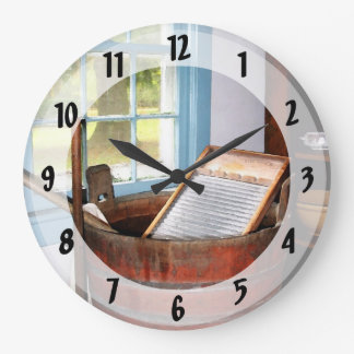 Washboard Large Clock