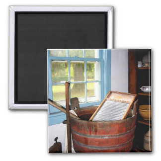 Washboard 2 Inch Square Magnet