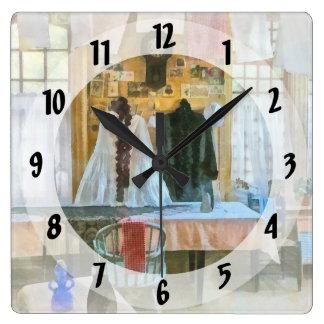Washday Square Wall Clock