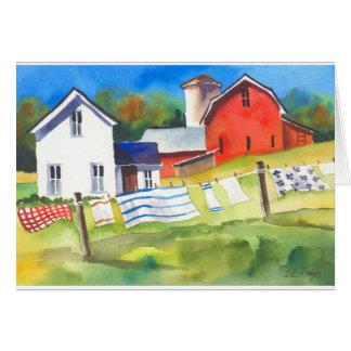 Washday on the Farm Greeting Card