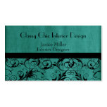 Washed Aqua Green Patterned Business Card