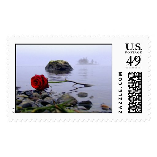 Washed Ashore Red Rose Postage